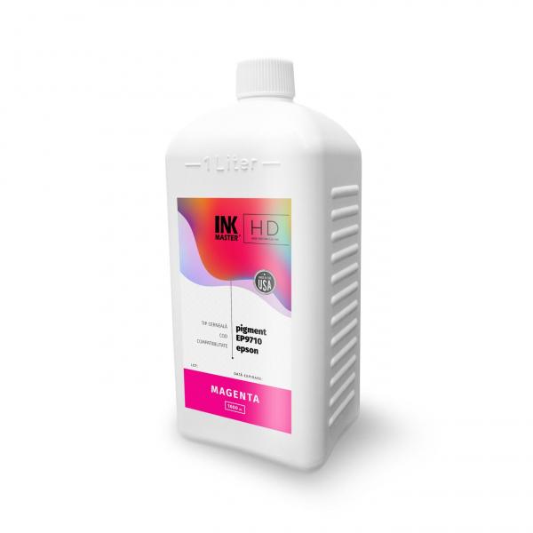 Cerneala profesionala Inkmaster compatibila Epson - PIGMENT, Magenta, EP9710M, 1 Litru 0