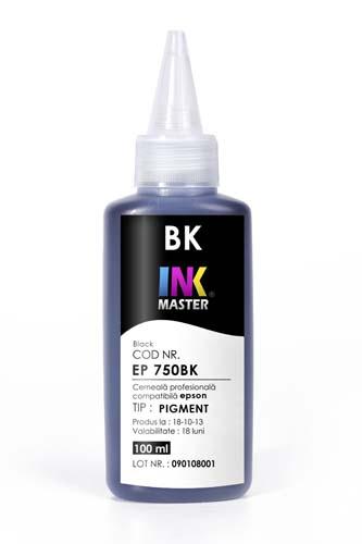 Cerneala profesionala Inkmaster compatibila Epson - PIGMENT, Negru, EP850BK [0]