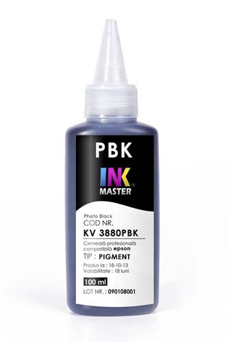 Cerneala profesionala Inkmaster compatibila Epson - PIGMENT, Photo Black, EPK3PBK, KV3880PBK 0
