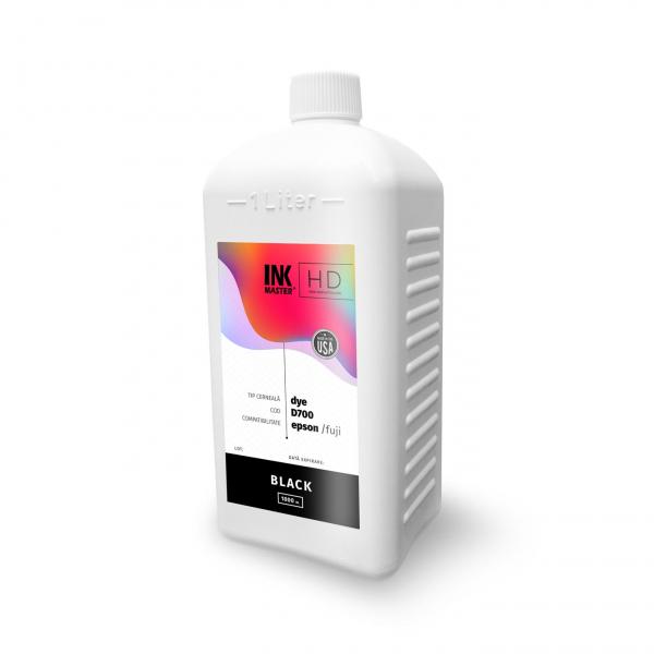 Cerneala profesionala Inkmaster compatibila Epson SureLab SL-D700 - DYE, Black, D700BK, 1 Litru 0