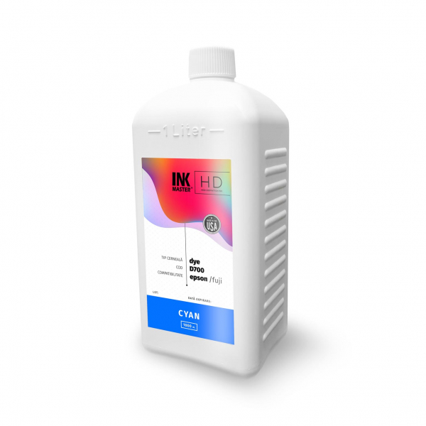 Cerneala profesionala Inkmaster compatibila Epson SureLab SL-D700 - DYE, Cyan, D700C, 1 Litru 0