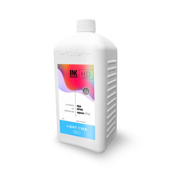 Cerneala profesionala Inkmaster compatibila Epson SureLab SL-D700 - DYE, Light Cyan, D700LC, 1 Litru 0