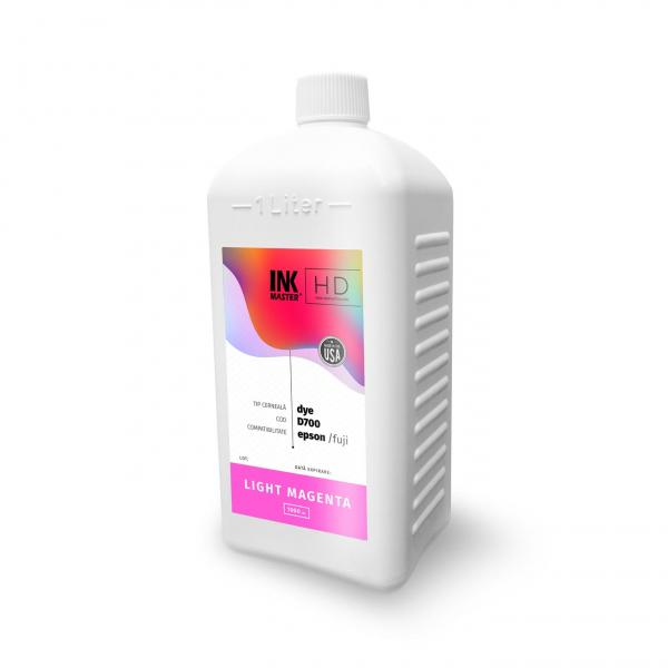Cerneala profesionala Inkmaster compatibila Epson SureLab SL-D700 - DYE, Light Magenta, D700LM, 1 Litru 0