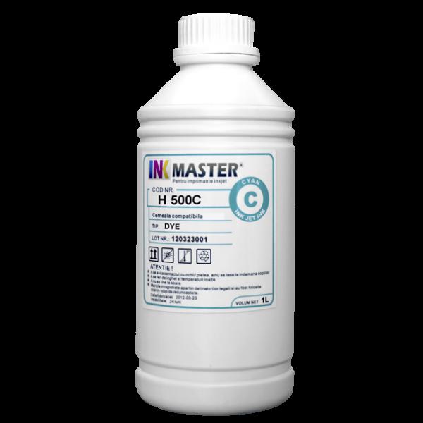 Cerneala profesionala Inkmaster compatibila HP - DYE, Cyan, H500C 0