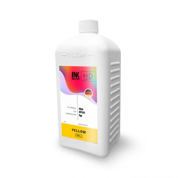 Cerneala profesionala Inkmaster compatibila HP - DYE, Galben, H720Y, 1 litru 0