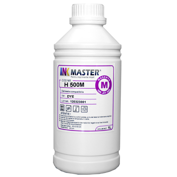 Cerneala profesionala Inkmaster compatibila HP - DYE, Magenta, H500M 0