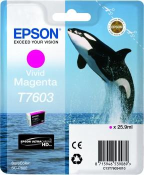 Epson T7603 - Cartus Vivid Magenta pentru imprimanta Epson SureColor SC-P600 0