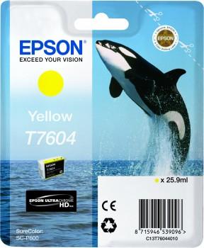 Epson T7604 - Cartus Yellow pentru imprimanta Epson SureColor SC-P600 [0]