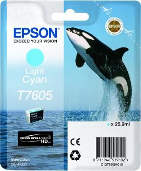 Epson T7605 - Cartus Light Cyan pentru imprimanta Epson SureColor SC-P600 0