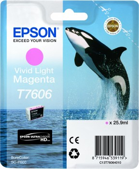 Epson T7606 - Cartus Vivid Light Magenta pentru imprimanta Epson SureColor SC-P600 0