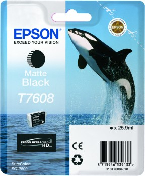 Epson T7608 - Cartus Matte Black pentru imprimanta Epson SureColor SC-P600 0