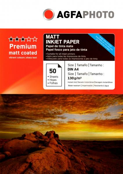 Hartie foto Agfa Matte A4 130g/mp 0