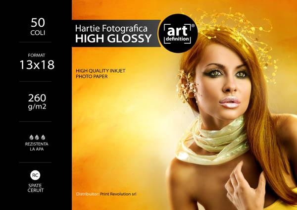 Hartie foto ArtDefinition RC 13x18 high glossy 260gr/m2 0