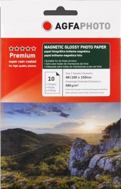 Hartie magnetica Agfa Glossy 10x15 680g/mp MC [0]