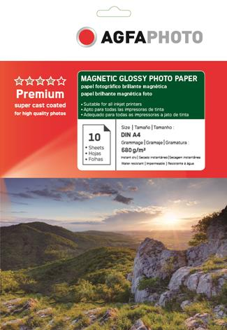 Hartie magnetica Agfa Glossy A4 680g/mp MC [0]