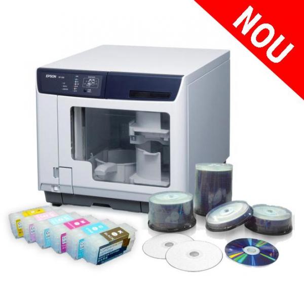 Imprimanta CD/DVD EPSON DISCPRODUCER PP-100AP + sistem CISS 0