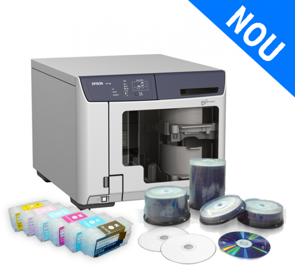Imprimanta CD/DVD EPSON DISCPRODUCER PP-50 + sistem CISS 0