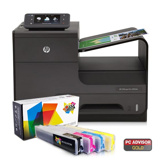 Imprimanta inkjet HP Officejet Pro X551 DW + sistem CISS 6
