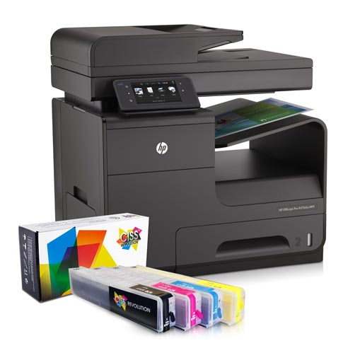 Imprimanta multifunctionala inkjet HP Officejet Pro X476 DW + cartuse refill 7