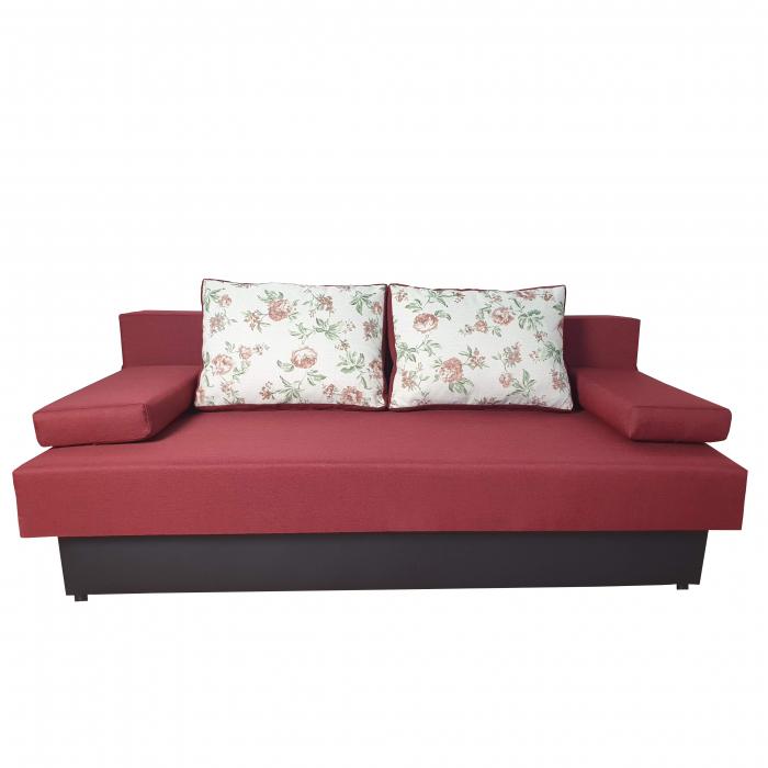 Canapea extensibila ,Classmob, Amalia,195x92x90cm,rosu cu negru 0