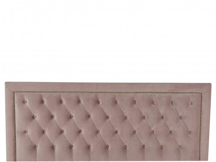 Pat tapitat Classmob Roma, 160x200cm,somiera metalica rabatabila,lada depozitare,roz [3]