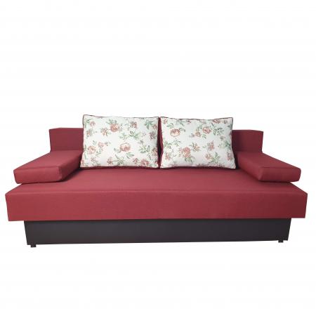 Canapea extensibila ,Classmob, Amalia,195x92x90cm,rosu cu negru0