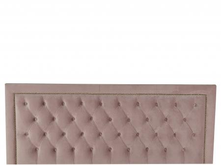 Pat tapitat Roma,140x200cm,somiera metalica rabatabila,spatiu depozitare,roz [3]