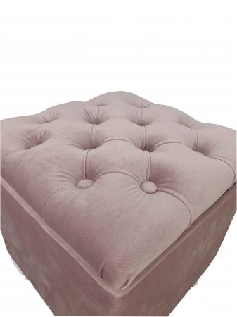 Taburet Fancy,37x37x45cm,roz [2]