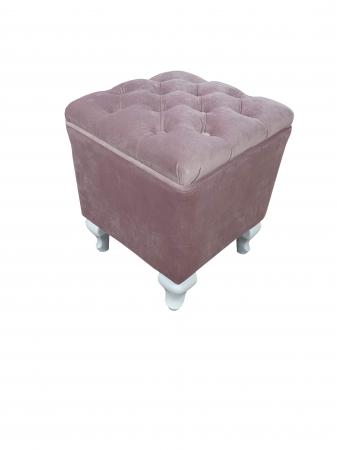 Taburet Fancy,37x37x45cm,roz [0]
