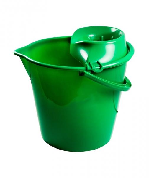 Galeata rotunda 13 L, cu storcator, verde 0
