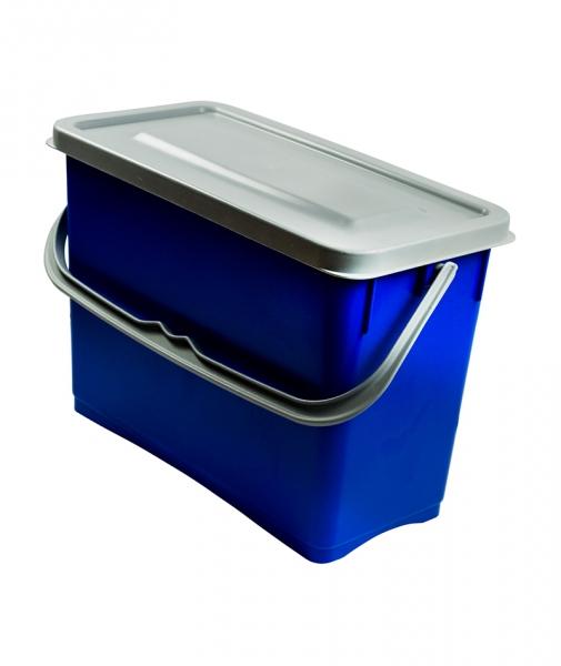 Galeata cu capac etans 8 L, albastru 0