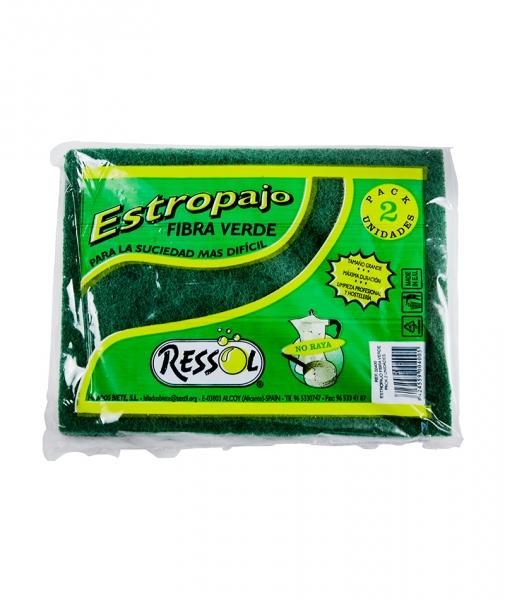 Laveta fibra abraziva verde, 2 buc/pach 0