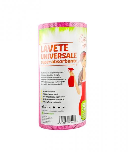 Lavete universale superabsorbante, 50 buc pe rola, Ciao Bella, rosu 0