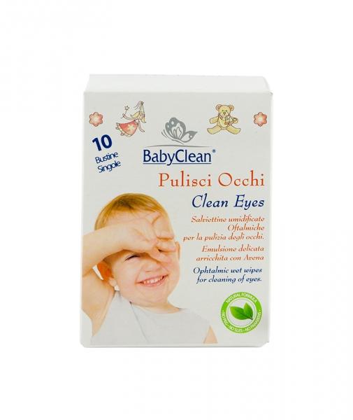 Servetele umede pentru curatare ochi bebelusi, 10 buc