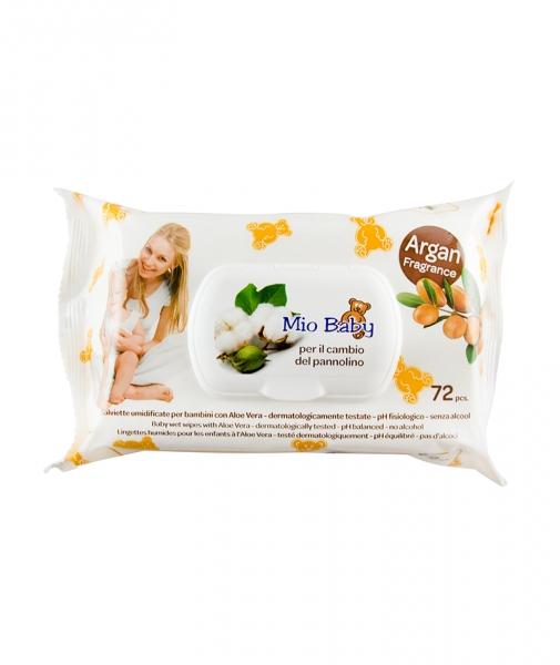 Servetele umede cu capac - Mio Baby argan, 72 buc