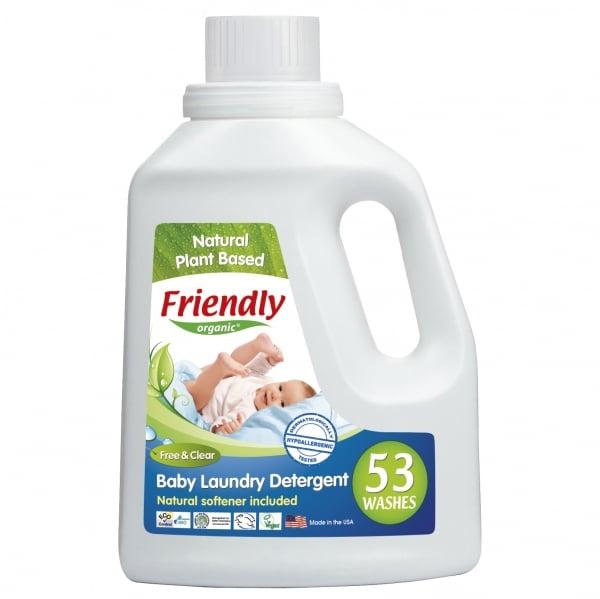 Detergent Rufe Bebe – Fara Miros Friendly Organic, 1567 ml, 53 spalari 0