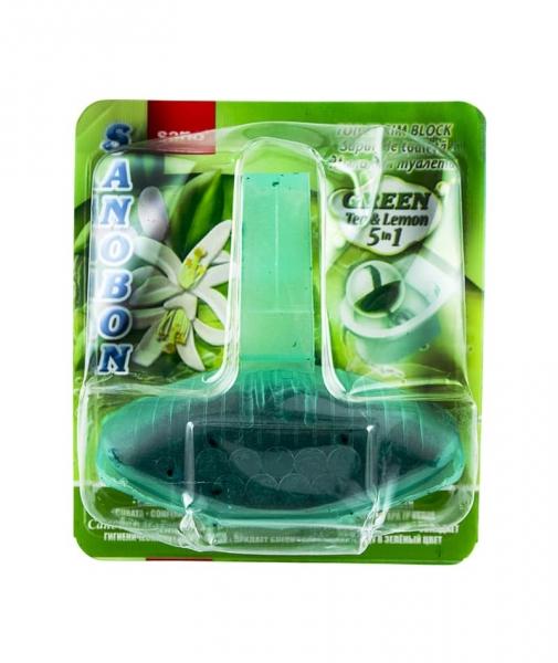 Odorizant solid pentru vasul toaletei, Sano Bon Green, 55g 0