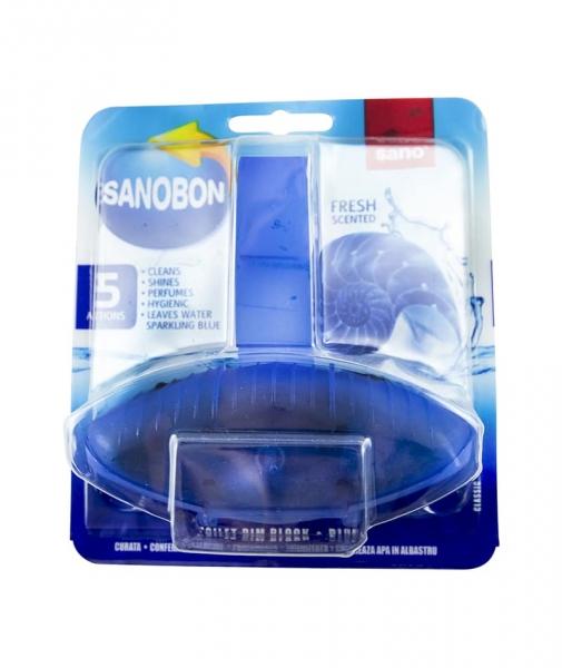 Odorizant solid pentru vasul toaletei, Sano Bon Blue, 55g [0]