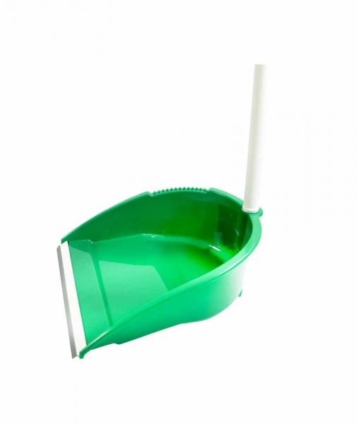 Faras cu lamela de cauciuc si maner inalt, verde 0