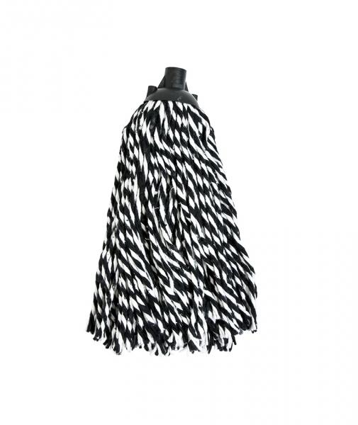 Mop bumbac bicolor Zebra, 250g 0