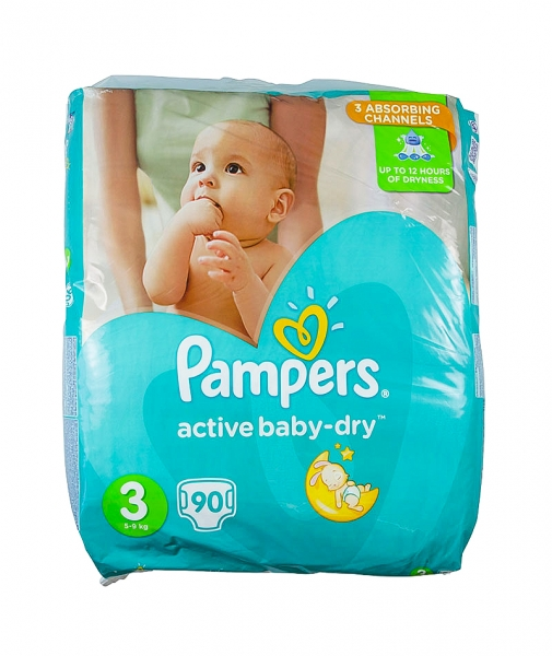 Pampers 3 Active Baby Dry, scutece,  90 buc/pach 0
