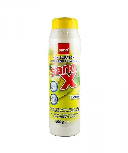 Praf de curatat cu inalbitor, Sano X Powder Lemon, 600 g [0]