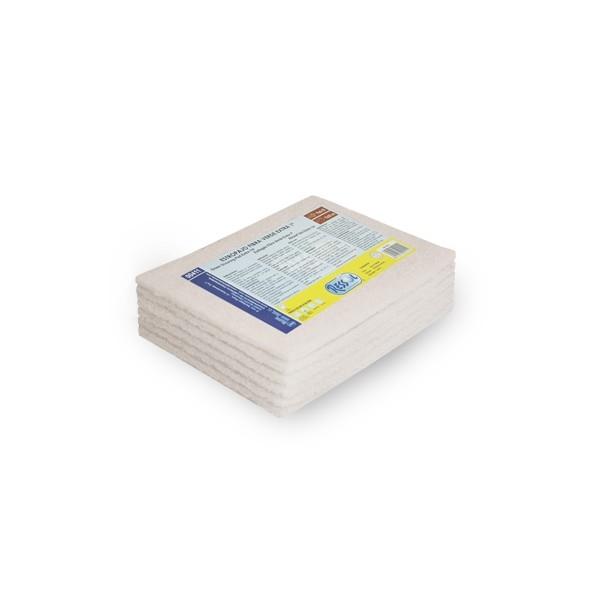 Laveta fibra abraziva alba non-scratch 6 buc/pac 0
