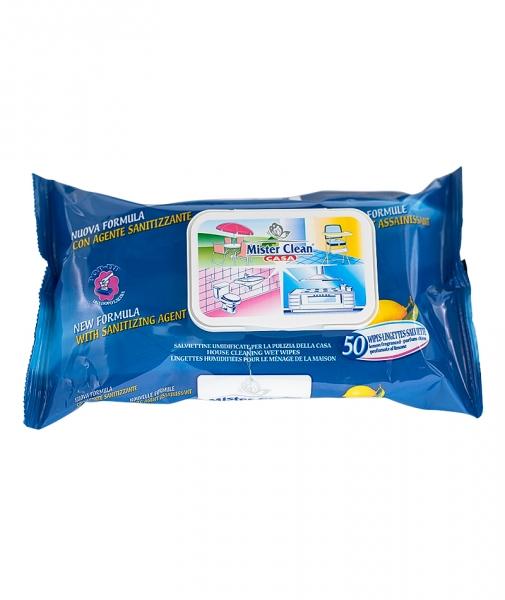 Servetele igienizante pentru suprafete Mister Clean, 60 Buc 0