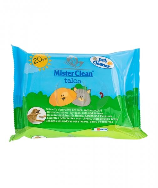 Servetele umede pentru animale, Talc, Mister Clean, 20 Buc 0
