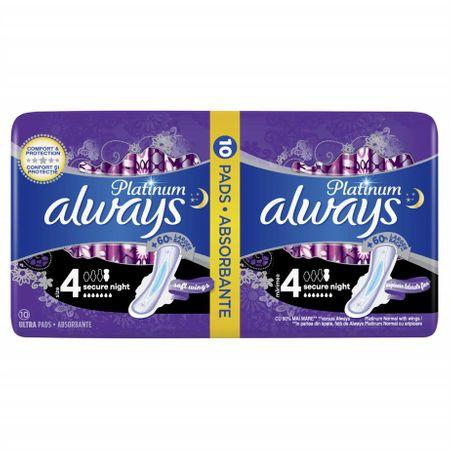 Absorbante Always Platinum Secure Night, 10 Buc 0