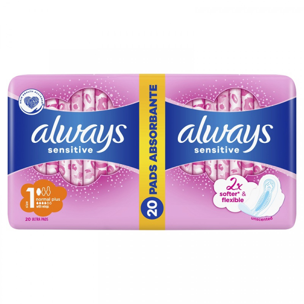 Absorbante Always Sensitive Normal, 20 buc 0