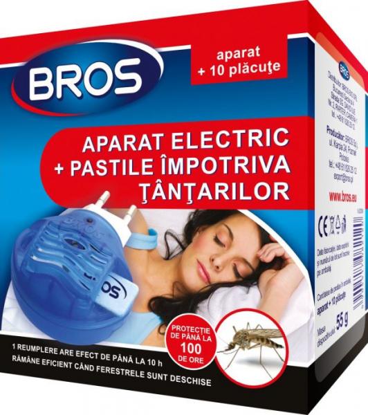 Aparat electric + 10 pastile impotriva tantarilor, Bros [0]