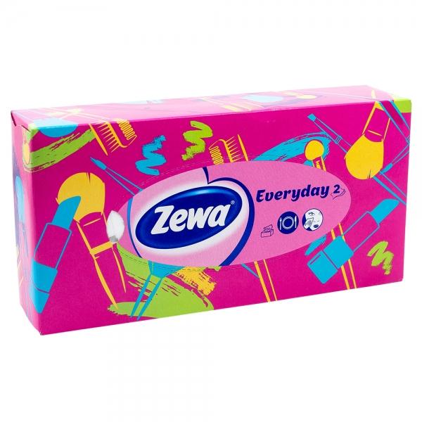 Batiste faciale Zewa Everyday 2, roz, 100 buc/set, 2 straturi 0