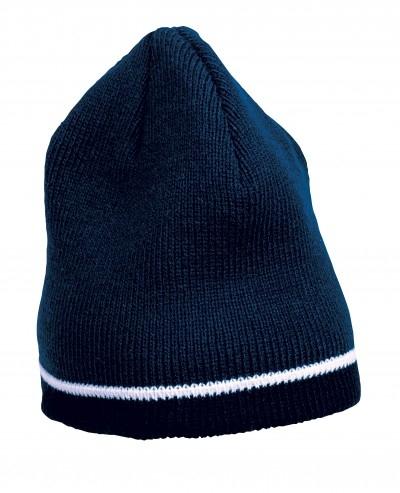 Caciula tricotata acryl, albastru 0